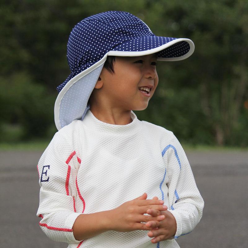 水陸両用フラップ帽子 子供~小さめレディース用 紫外線対策