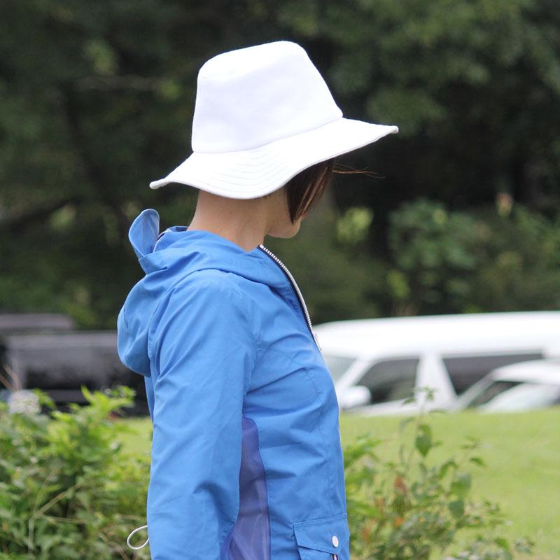 深く被れる柔らかい中折れハット UVカット帽子 紫外線対策