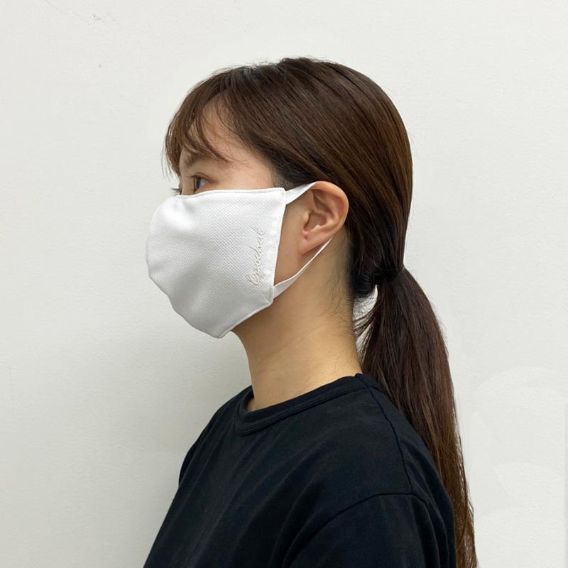 防泥&通気性UPした立体UVカットマスク