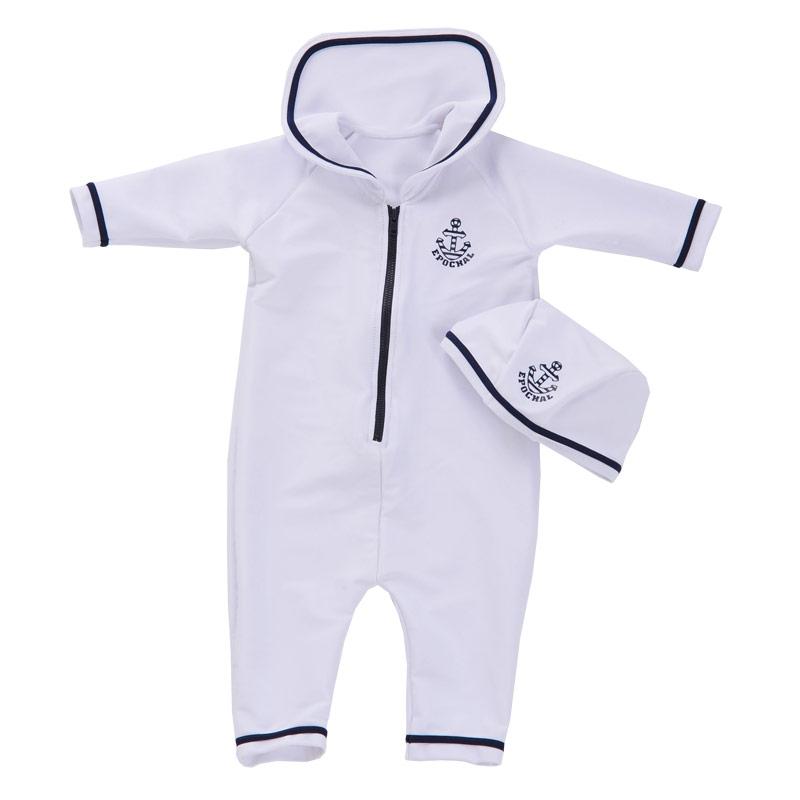 赤ちゃんを日焼けさせないスイムウエア マリンスイムウェア&キャップ エポカル