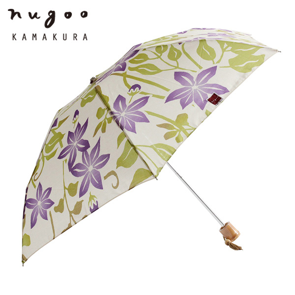 折りたたみ晴雨兼用日傘 クレマチス