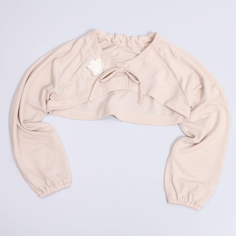 UVカット花形モチーフUVボレロ 子ども用 (接触冷感素材使用)