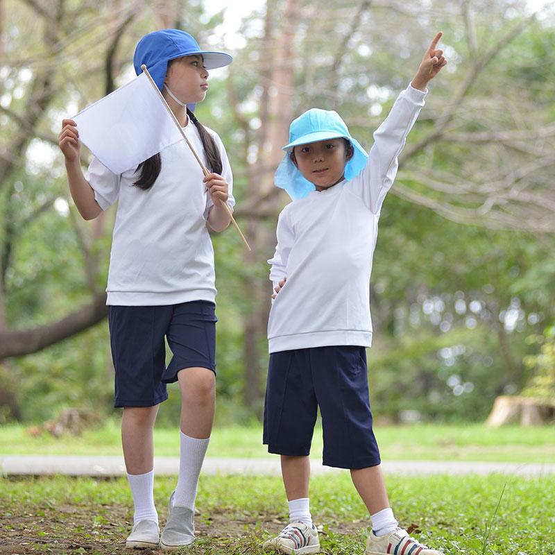 UVカット体操着長袖 【日本学校保健会推薦用品】