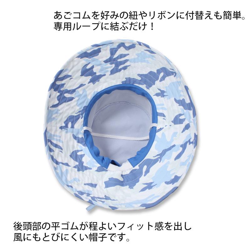 軽さと風に飛ばされづらいUVカット帽子  UVカットホールハット