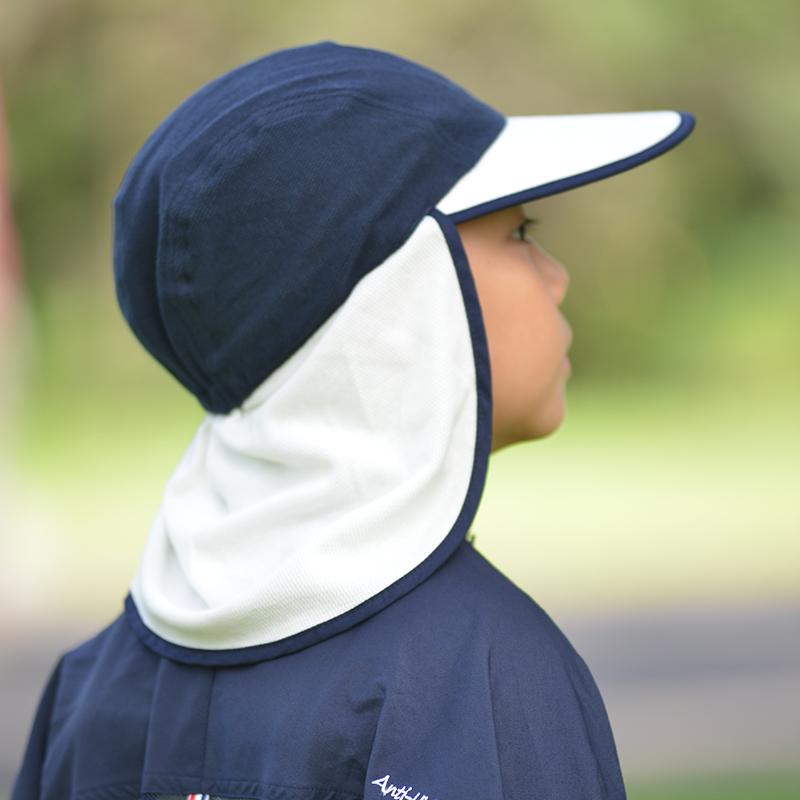 防蚊&UVカット帽子 蚊よけフラップ帽子 子供用