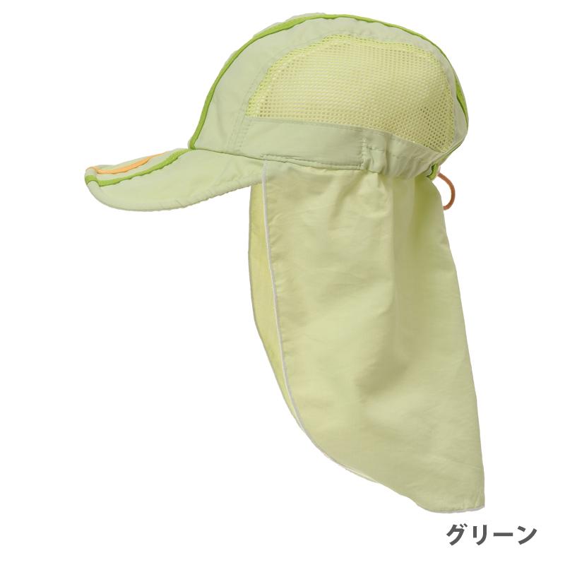 驚きの軽さ!つばが柔らかいメッシュフラップ帽子 ベビー・幼児 紫外線対策