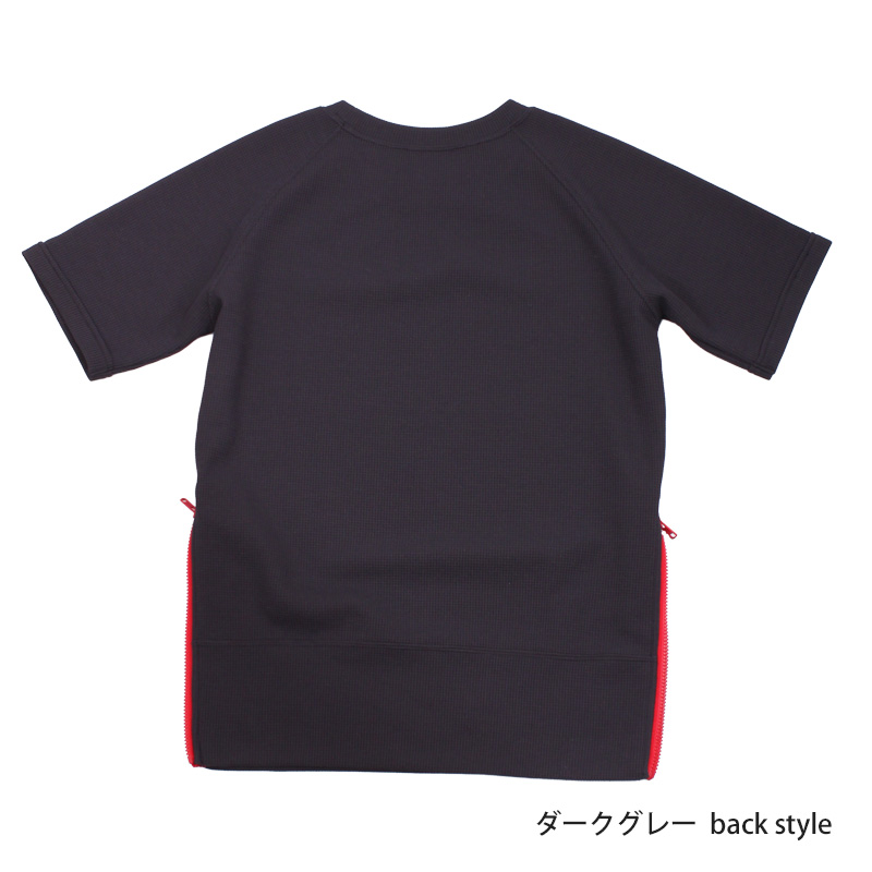 UVカットワッフルTシャツ 5分袖 レディース 紫外線対策