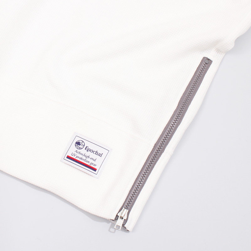 紫外線対策  UVカットワッフルTシャツ 5分袖