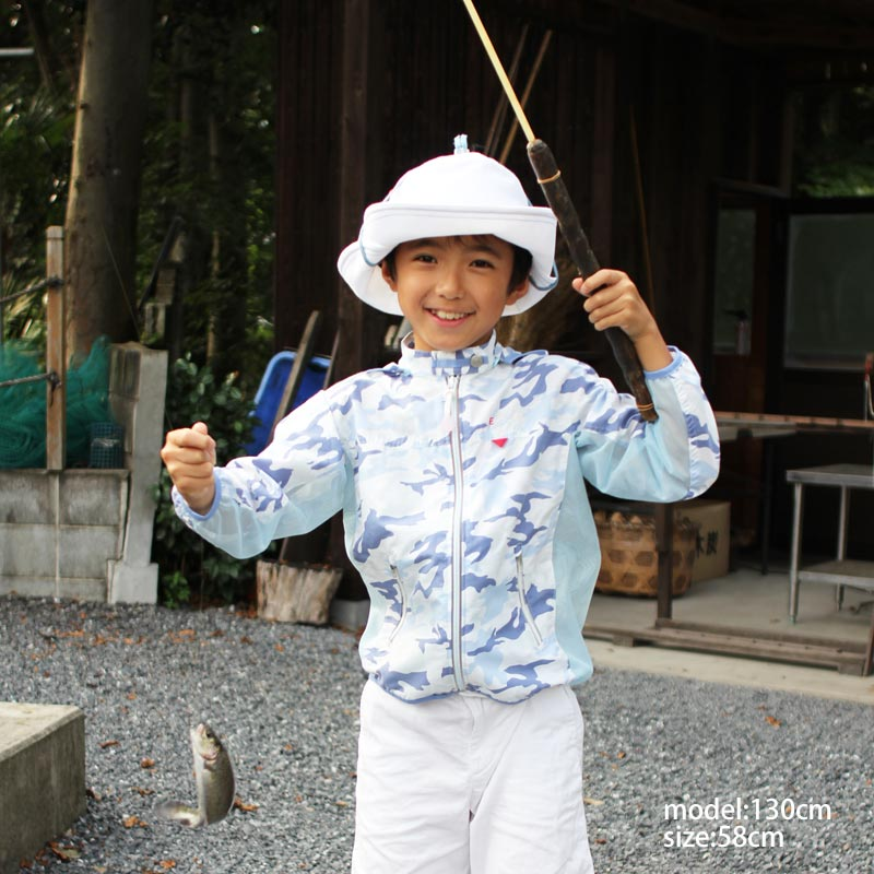 UVカット帽子 3WAYUVカット帽子 ホワイト 【日本学校保健会推薦用品】