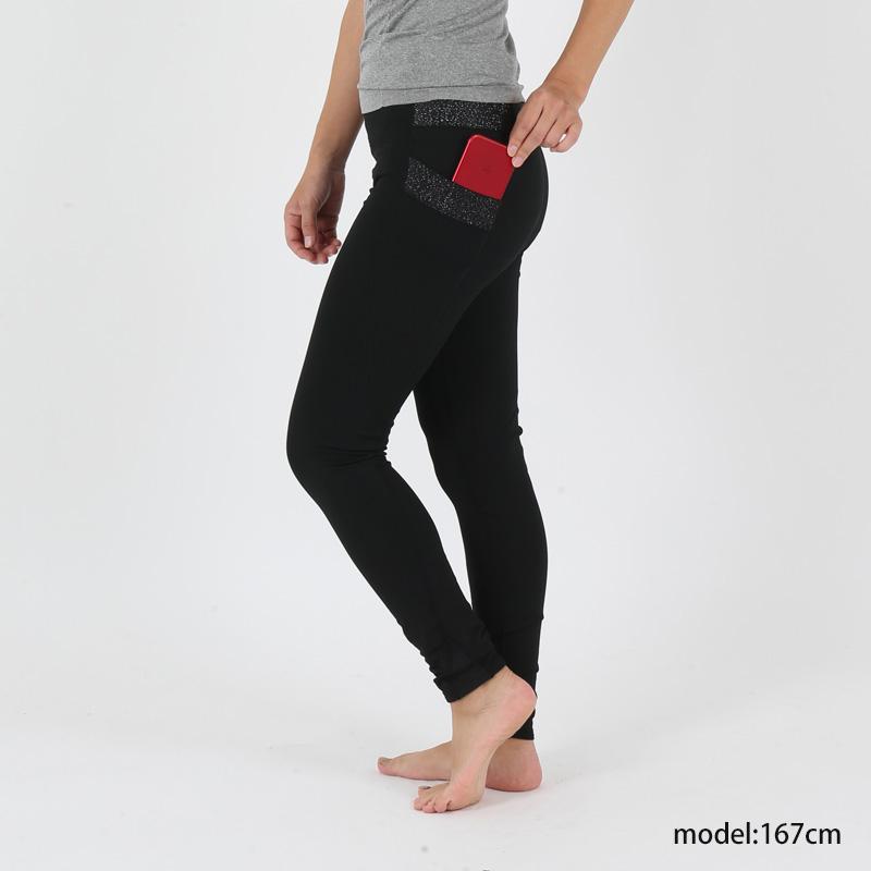 紫外線対策 ポケット付レギンス ホットタイプ