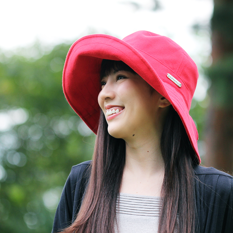 ノーブルハット つばの長い帽子 女性用