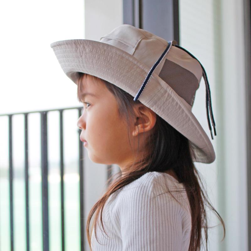 保冷剤が入れられるメッシュハット 子供~大人(打水効果の特殊素材) 紫外線対策