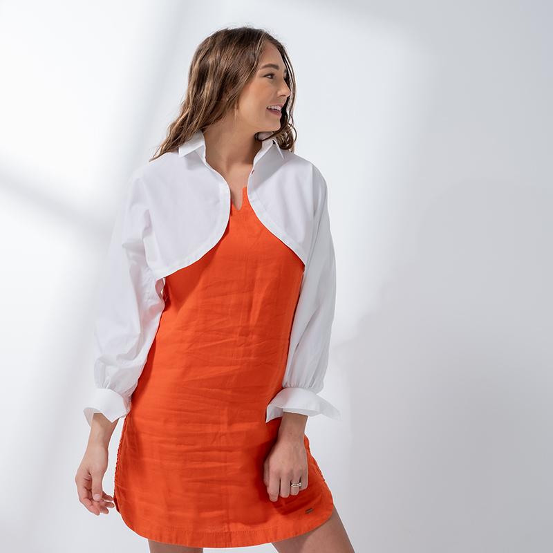 パフスリーブボレロシャツ