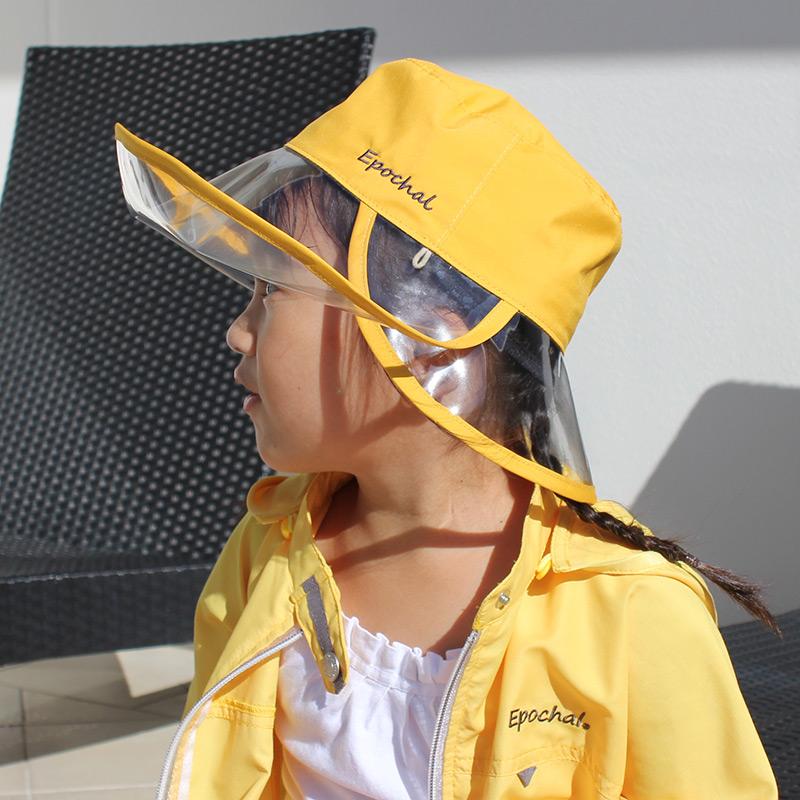 紫外線対策 撥水 クリアつば3WAYUVカット帽子 子供・女性
