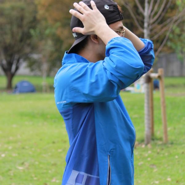 ブレッサブルUVパーカー ブルー メンズ 紫外線対策