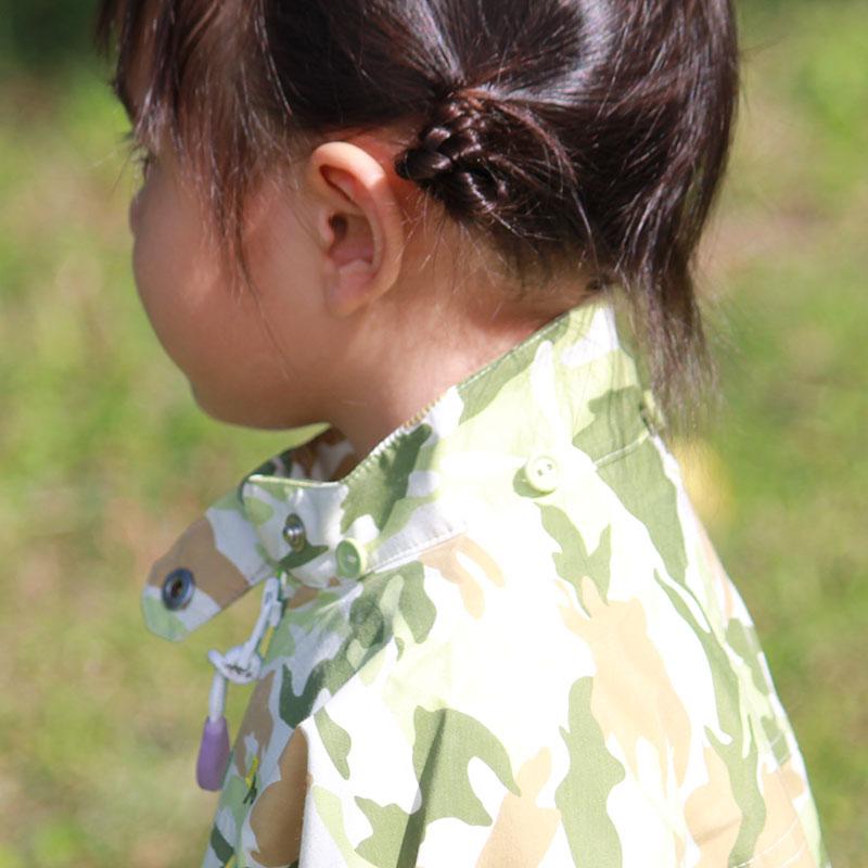 サンブロックUVメッシュパーカー カモフラグリーン キッズ 紫外線対策