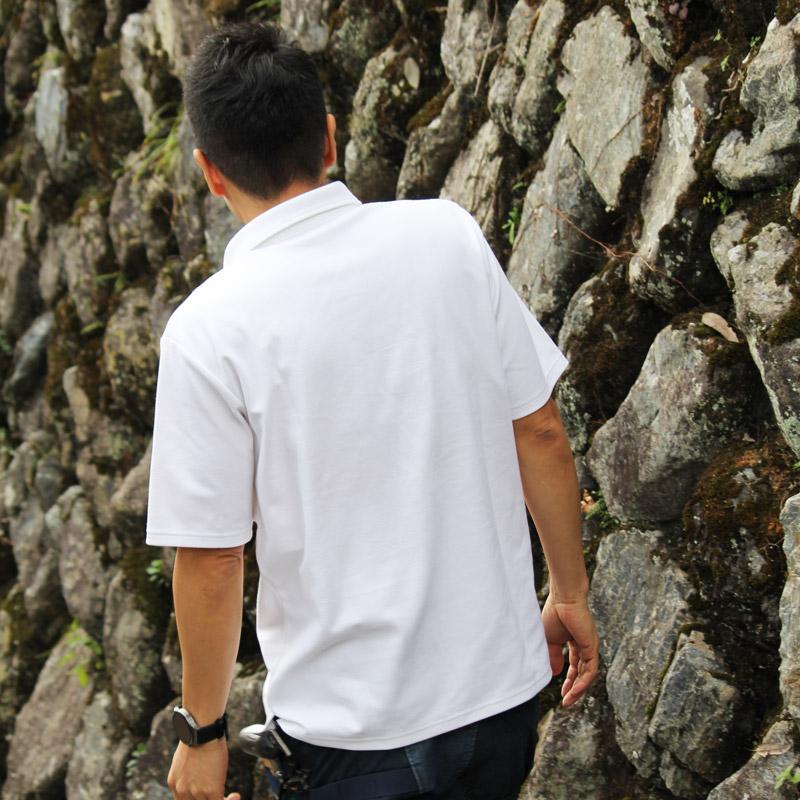 メンズポロシャツ 5分袖 【日本学校保健会推薦製品】 紫外線対策