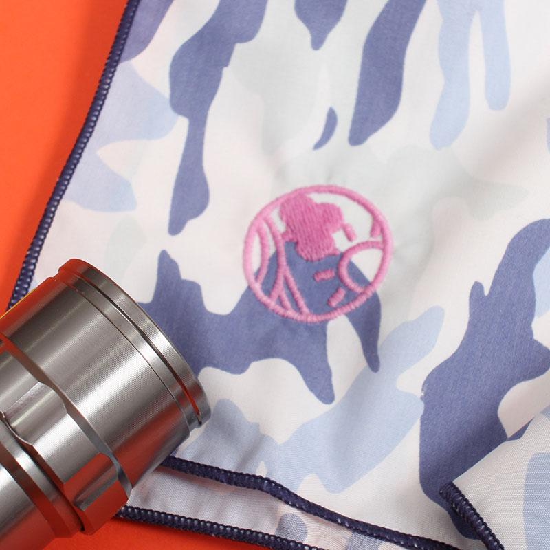 UVカットカモフラネッカチーフ(UVで色が変わる刺繍入り!)