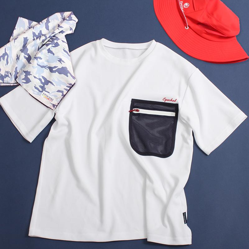 メッシュポケットレディースTシャツ