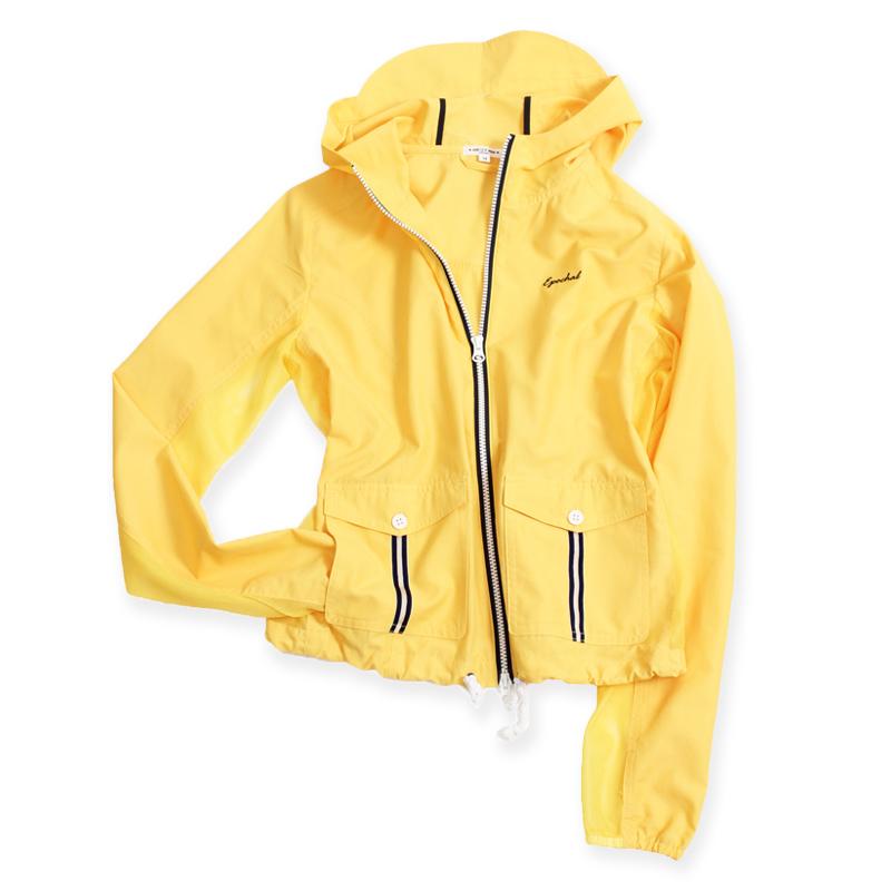 メッシュUVマリンパーカー ベージュ/ブルー/イエロー