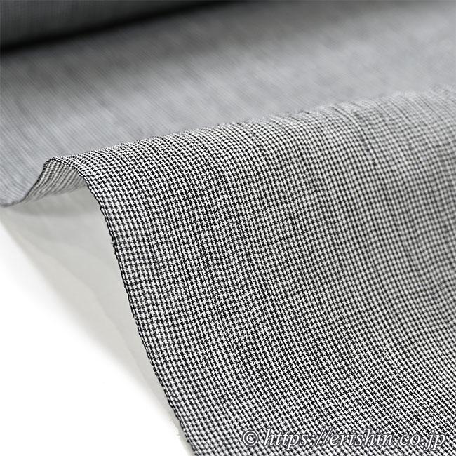 小千谷縮(微塵格子/薄墨色)広巾