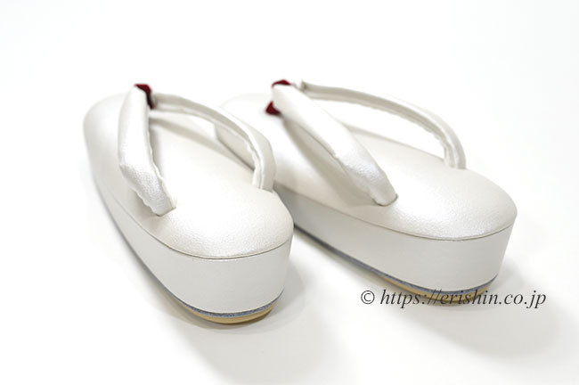 真綿入り草履(帆布パールホワイト)Mサイズ