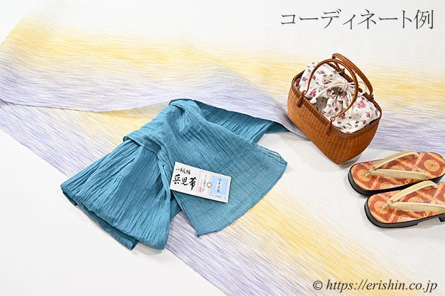 竹籠巾着付バッグ(栗の実色)