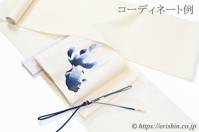 白たか上布(細縞・生成色)広巾