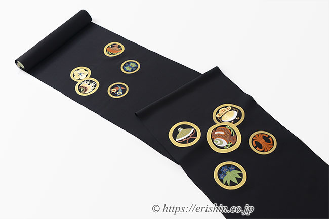 刺繍染名古屋帯(狂言の丸)