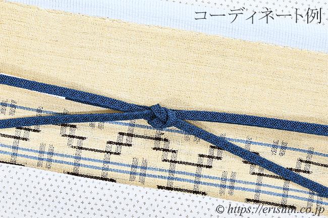 帯締め 平唐組レース(紺鼠色)[夏・単衣向]