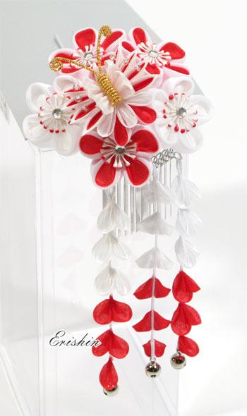 つまみかんざし(梅と藤に蝶)