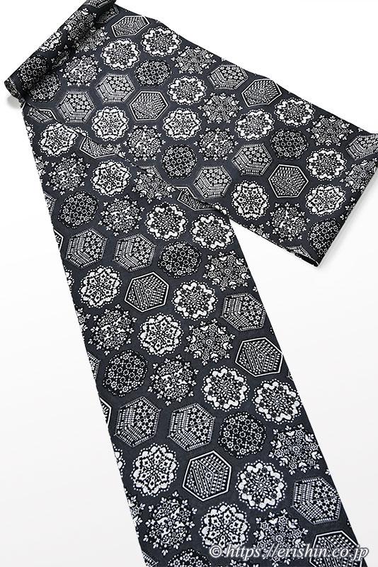 誉田屋源兵衛 浴衣(綿・トレド華紋/黒)広巾