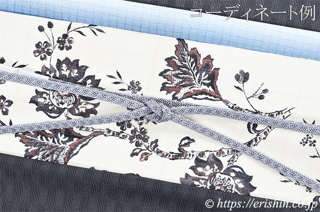 帯締め 平唐組レース(錫色)[夏・単衣向]