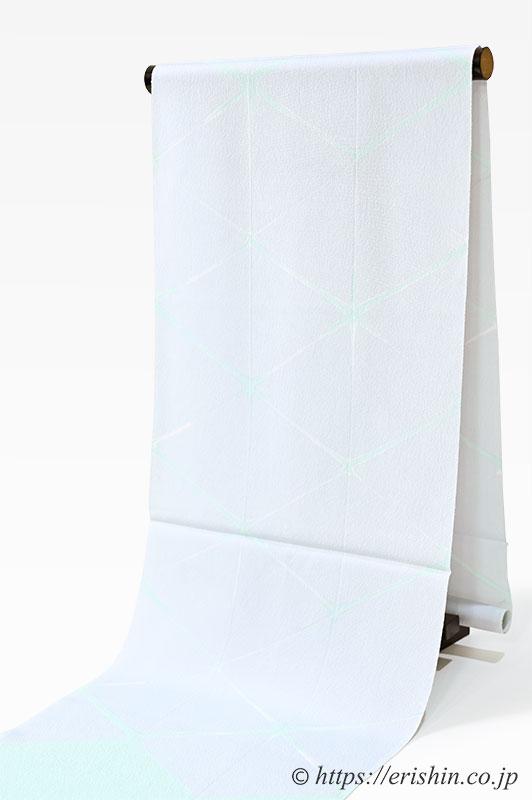 帯揚げ(板締め菱重ね/白花色)
