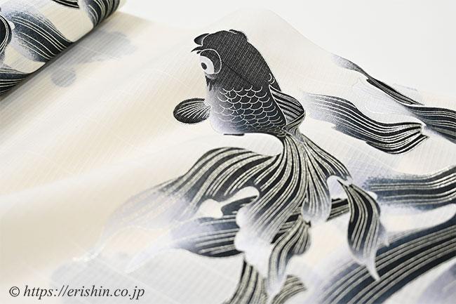 誉田屋源兵衛 浴衣(金魚・綿)広巾