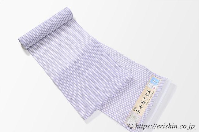小千谷縮(縞いろいろ/浅紫色)広巾