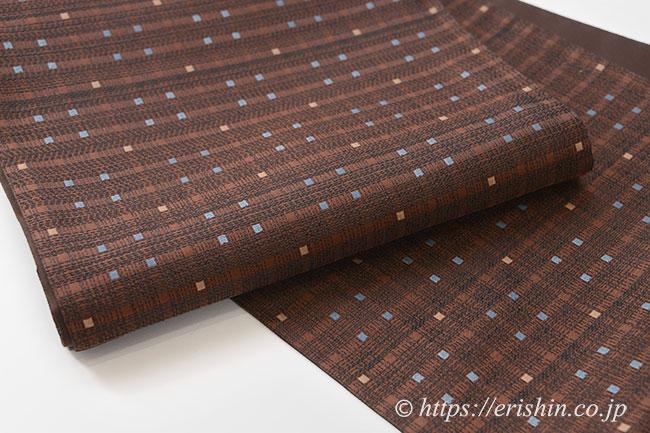 袋帯(小格子段織)