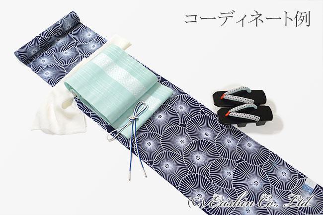 竺仙/ちくせん 綿絽地染浴衣(万寿菊)