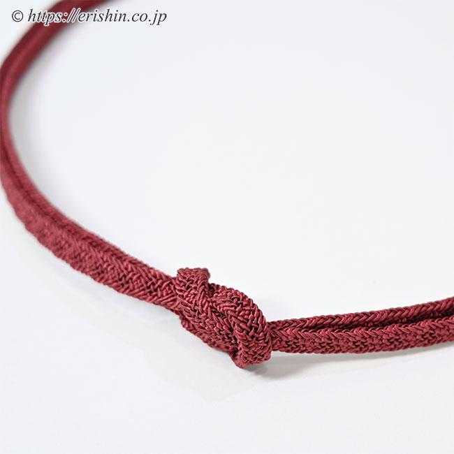 帯締め 平唐組レース(赤葡萄色)[夏・単衣向]