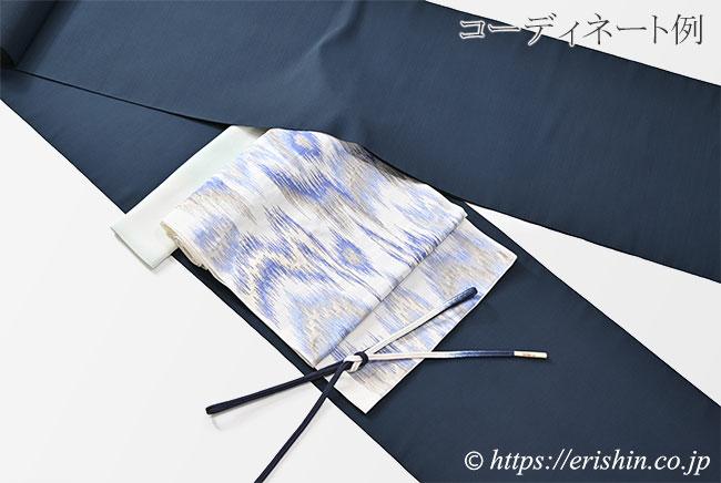 帯締め 細ゆるぎ組(三色暈かし/藍鉄色)[夏・単衣向] ☆再入荷しました。