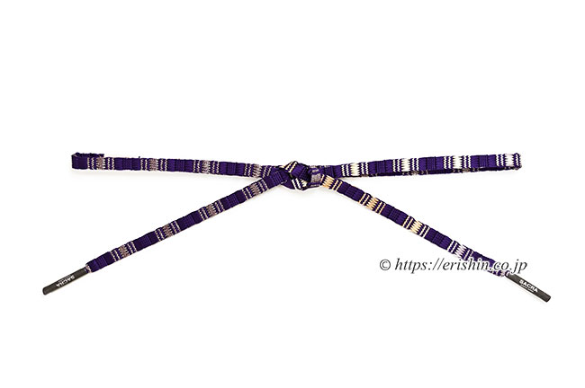 帯締め 綾竹三段鎧組(本紫に金)