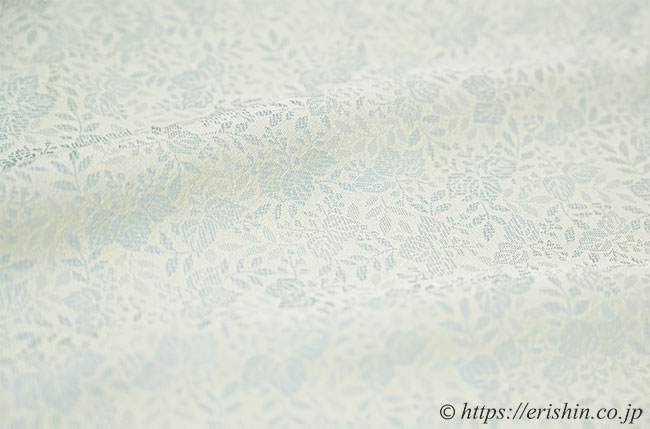 洗える絹の着物 丹後織御召(桐葉/淡青磁色)