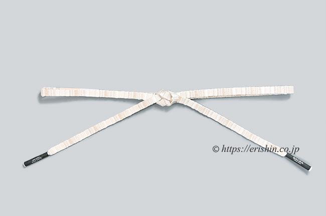 帯締め 綾竹三段鎧組(白に銀)