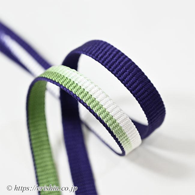 帯締め 綾竹組(三色暈かし/濃青紫×柳染×白)