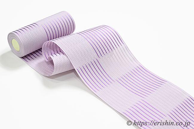 博多半幅帯(粗紗/暈かし市松・若紫)
