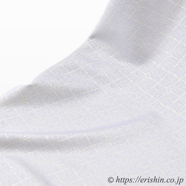 洗える絹の着物 丹後織御召(羊歯菱文)6種