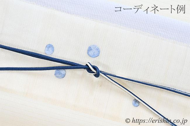 帯締め 細丸組(暈かし/鼠青藍)[夏・単衣向] ☆再入荷しました。