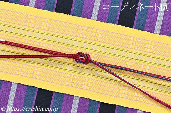 帯締め 細丸組(三色暈かし/濃紅)[夏・単衣向]