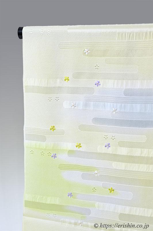 帯揚げ(ヱ霞に桜刺繍)