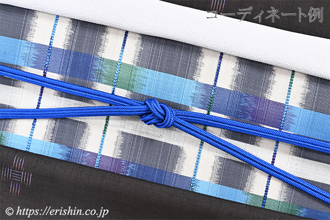 帯締め ゆるぎ組/冠組(瑠璃紺色)